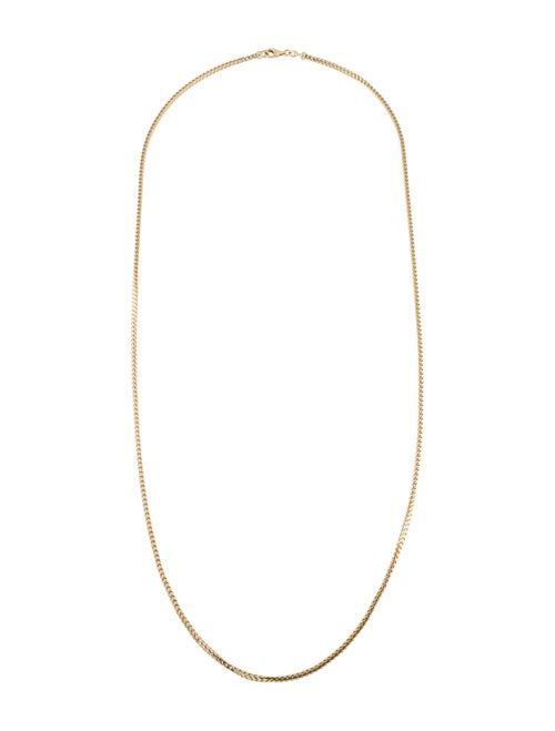18K Wheat Chain Necklace yellow