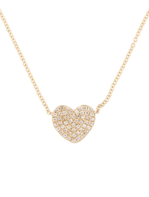 14K Heart Pendant Necklace Yellow