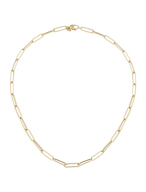 14K Paperclip Chain Necklace yellow