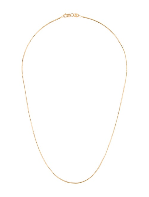 Necklace 14K Snake Chain Necklace yellow