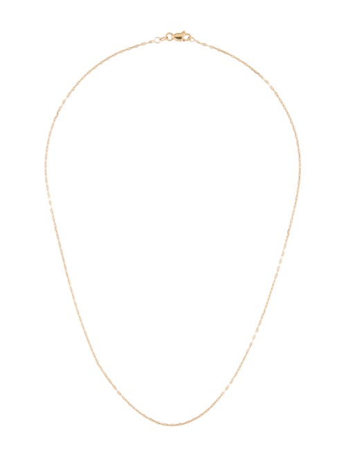 14K Delicate Figaro Chain Necklace yellow