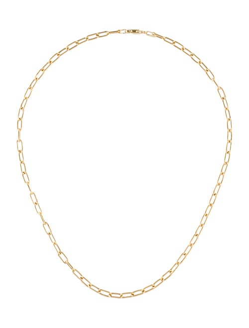 14K Paperclip Link Chain Necklace Yellow