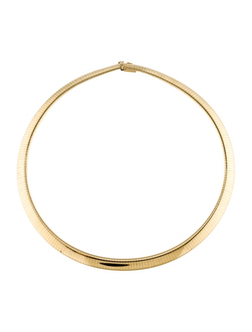 14K Omega Collar Necklace yellow