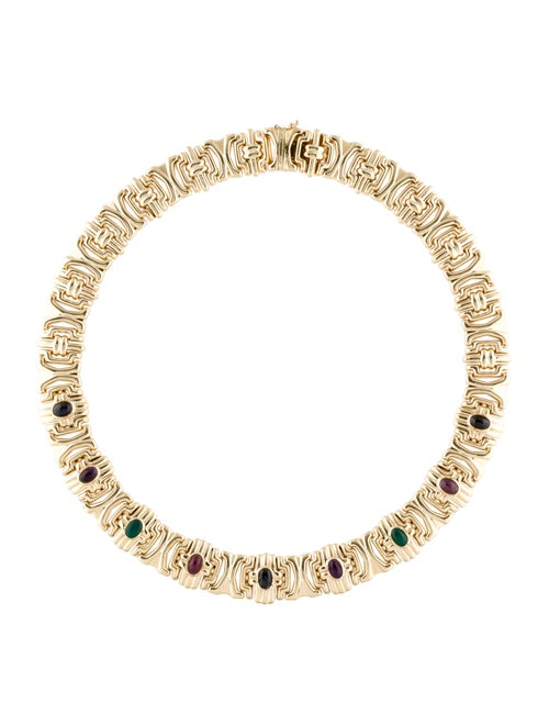 Necklace 14K Multistone Collar Necklace Yellow