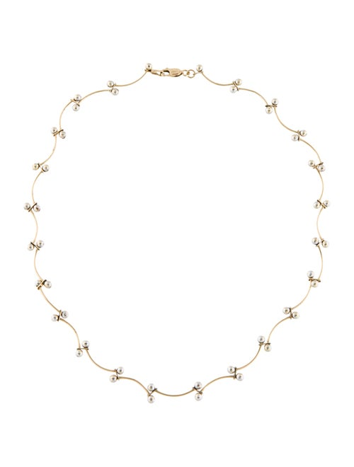 Necklace 14K Collar Necklace White