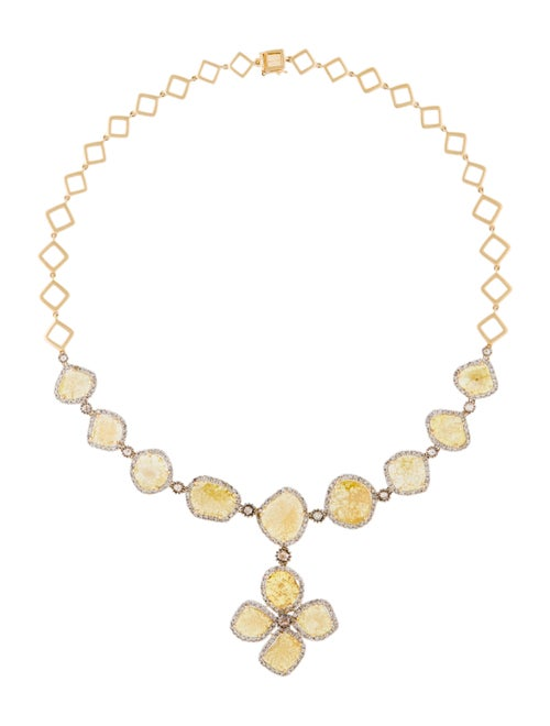 Necklace 14K Diamond Collar Necklace Yellow