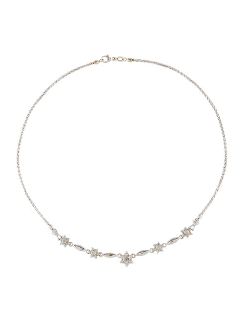 Necklace 14K Diamond Collar Necklace White
