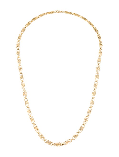 Scroll Link Chain Necklace Yellow