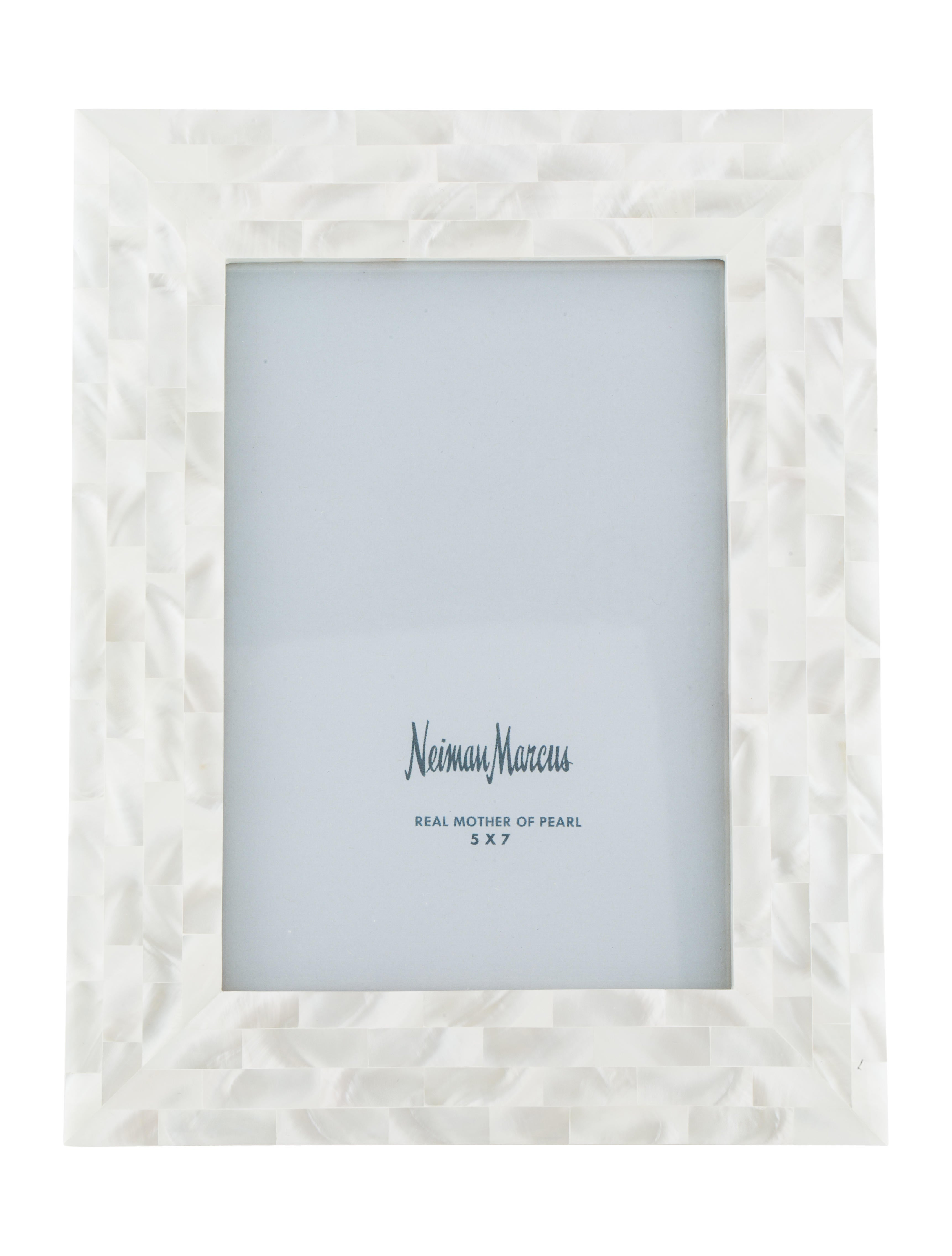 Neiman Marcus Mother Of Pearl Picture Frame Decor