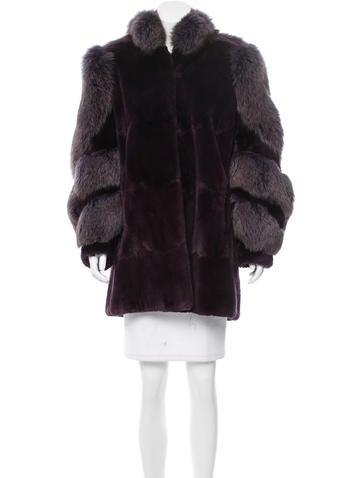 neiman marcus structured mink coat clothing nemrc20161. Black Bedroom Furniture Sets. Home Design Ideas