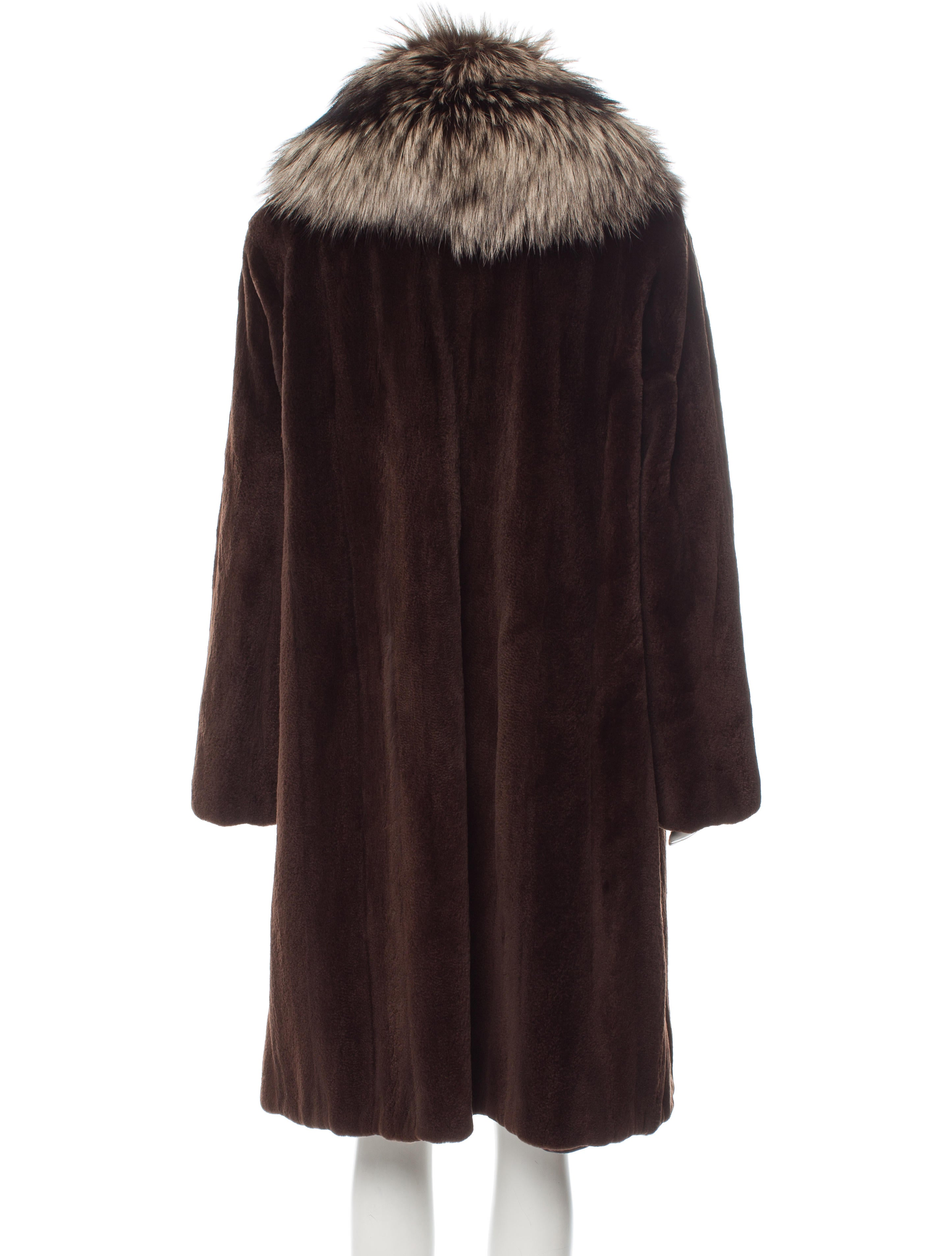 neiman marcus sheared mink fox fur trimmed coat clothing. Black Bedroom Furniture Sets. Home Design Ideas