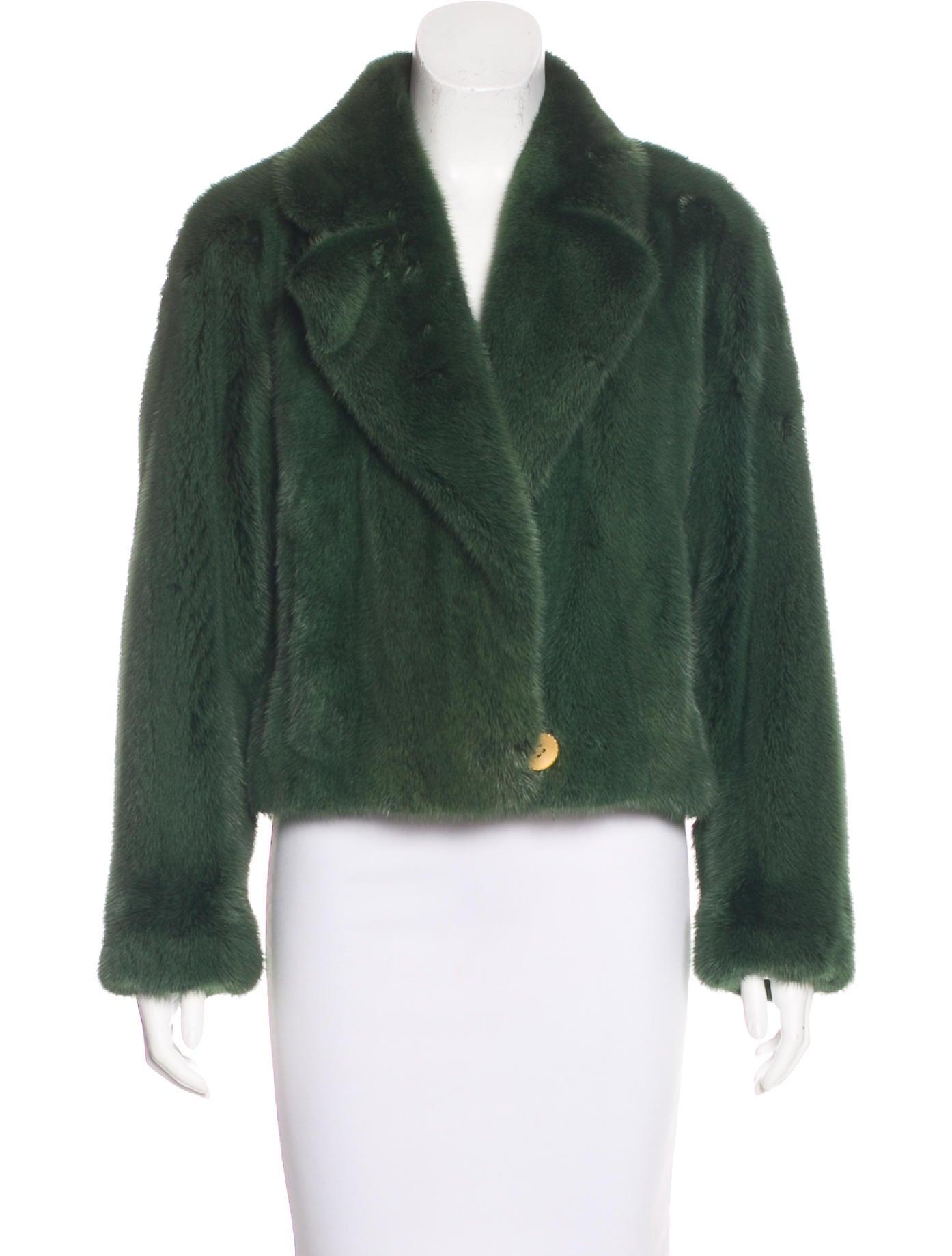 neiman marcus mink fur crop jacket clothing nemrc20258. Black Bedroom Furniture Sets. Home Design Ideas