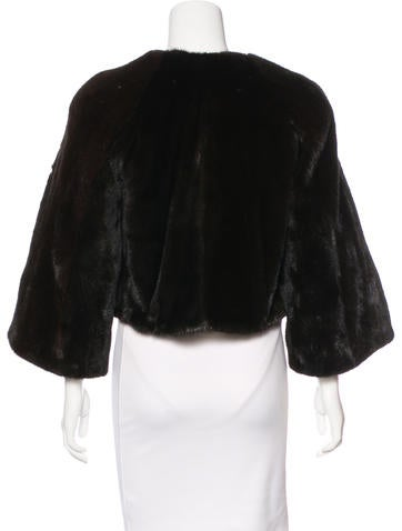 neiman marcus mink fur cropped jacket clothing. Black Bedroom Furniture Sets. Home Design Ideas