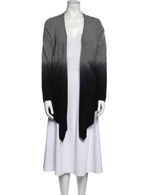 Neiman Marcus Cashmere Tie-Dye Print Sweater Grey - image 1