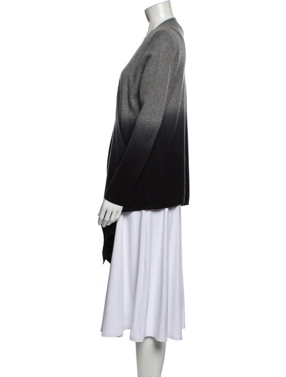 Neiman Marcus Cashmere Tie-Dye Print Sweater Grey - image 2