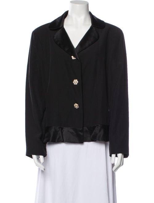 Neiman Marcus Silk Blazer Black