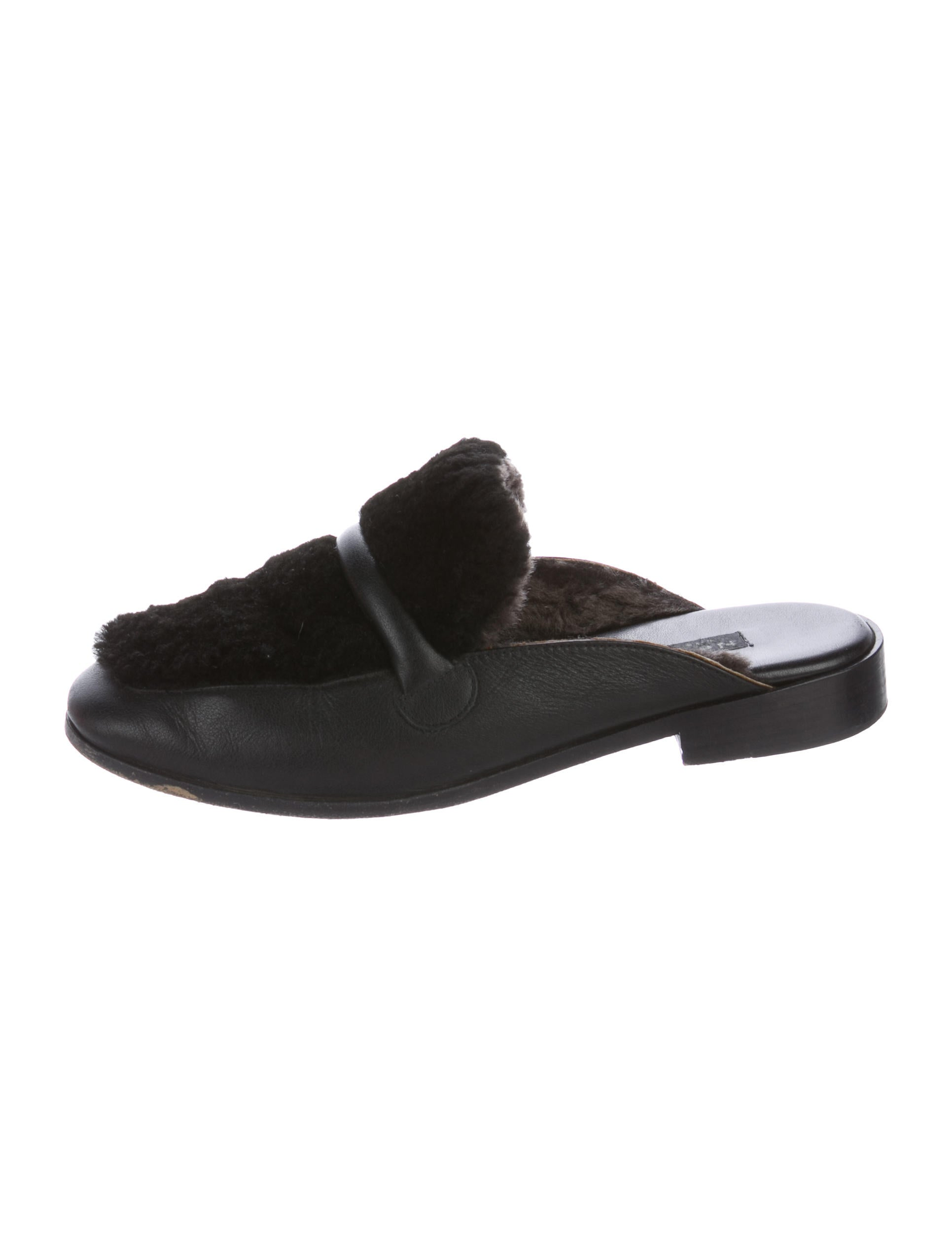 NewbarK Shearling-Lined Leather Mules sale cheapest price Bz53hEzPG