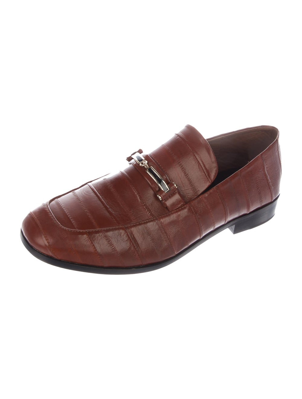 NewbarK Eel Skin Loafers Brown - image 2
