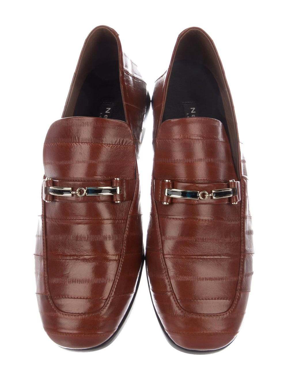 NewbarK Eel Skin Loafers Brown - image 3