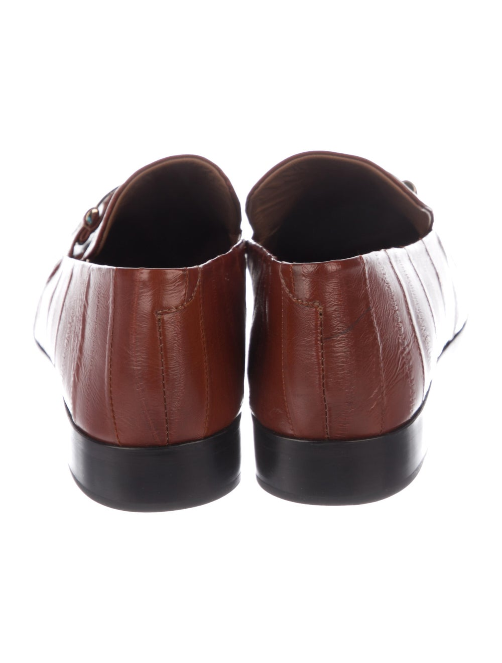 NewbarK Eel Skin Loafers Brown - image 4