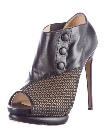 Peep-Toe Platform Booties