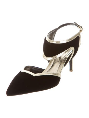 Velvet Polly Pumps w/ Tags