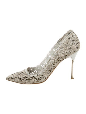 Leather Laser Cut Pumps