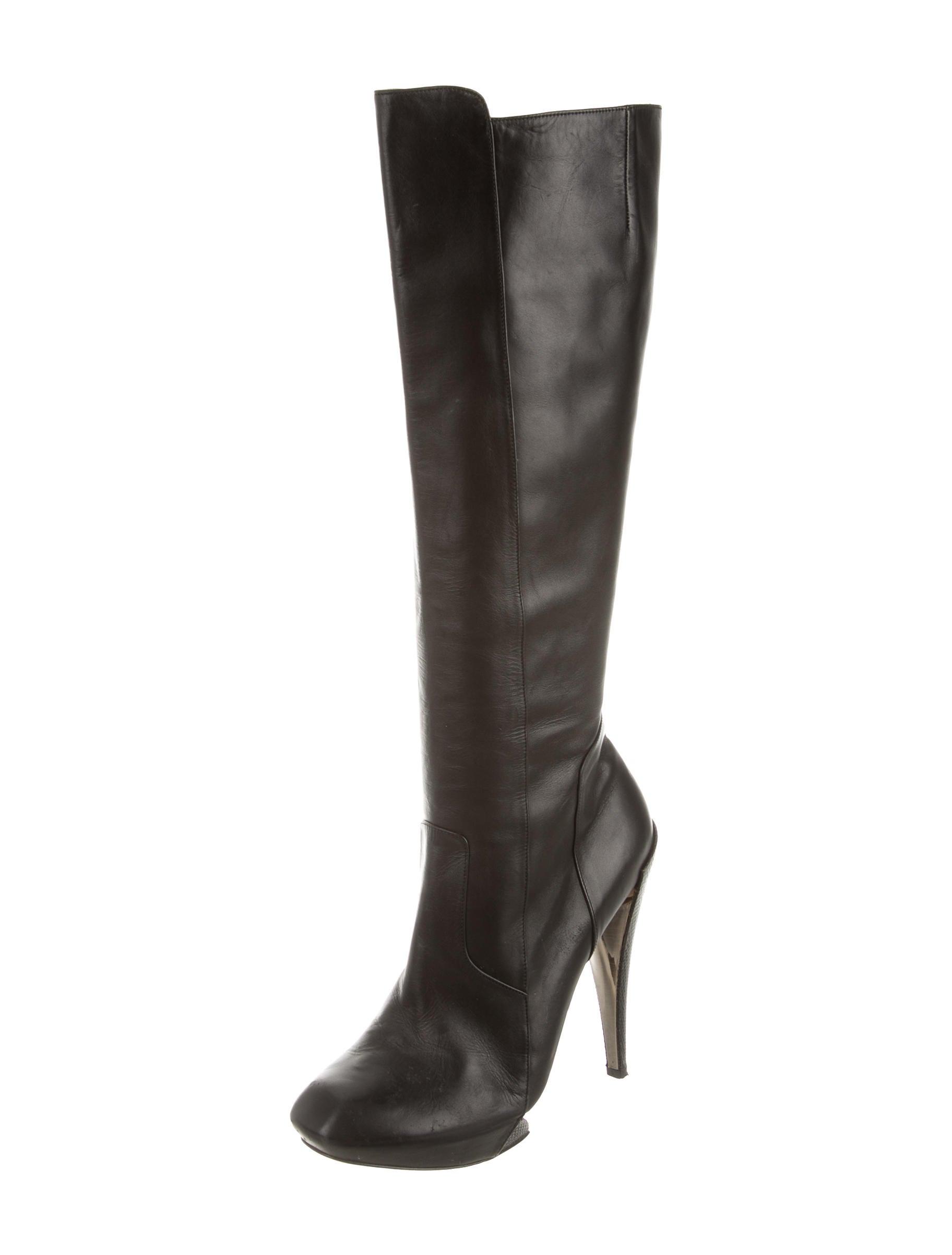 nicholas kirkwood square toe leather boots shoes