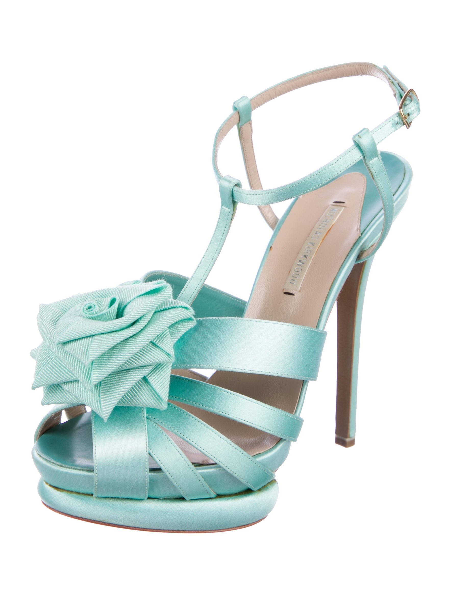 sale lowest price Nicholas Kirkwood Rosette Satin Sandals pay with visa sale online in China KZMCtgz
