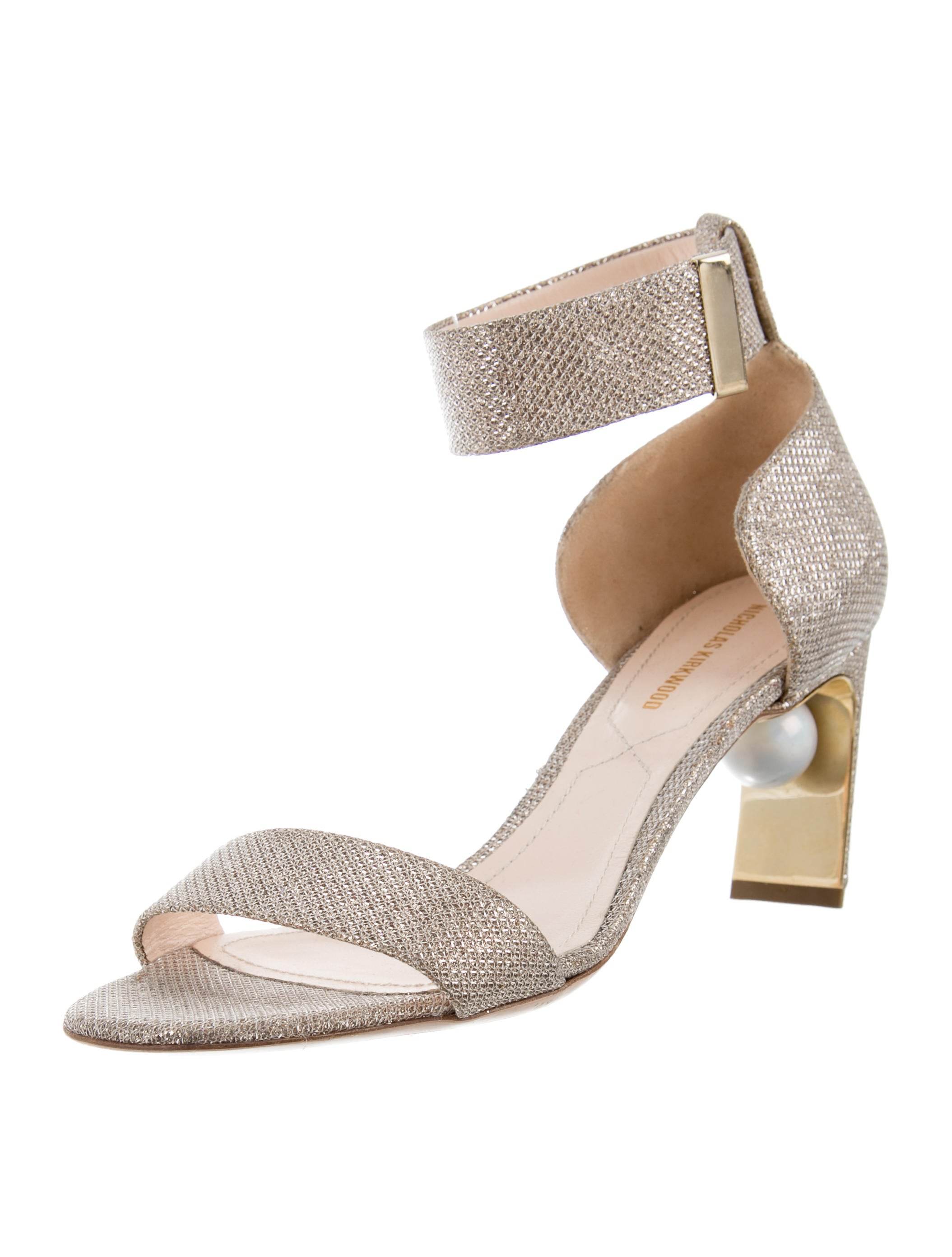 Nicholas Kirkwood Glitter Round-Toe Sandals free shipping footlocker pictures sale pre order RAvRx