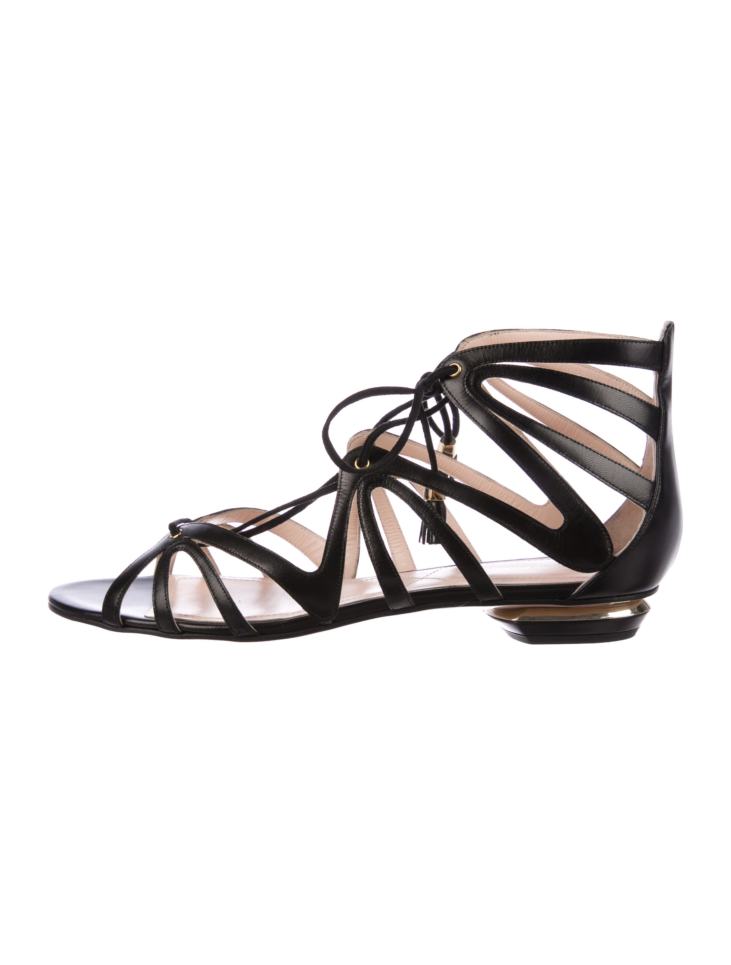 Nicholas Kirkwood Leather Cage Sandals w/ Tags eastbay finishline online amazon cheap price buy cheap new jWPoE2bUH