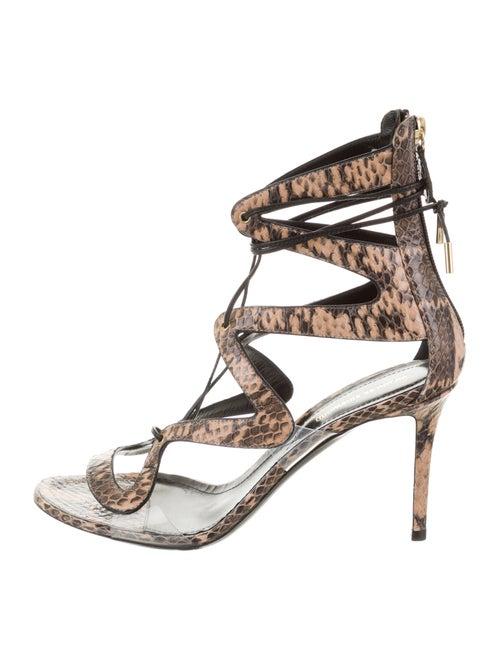 Nicholas Kirkwood Snakeskin Animal Print Sandals