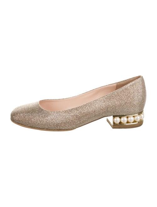 Nicholas Kirkwood Ballet Flats Silver