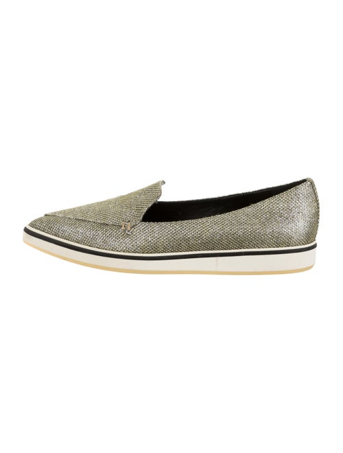 Nicholas Kirkwood Glitter Pointed-Toe Loafers Gold