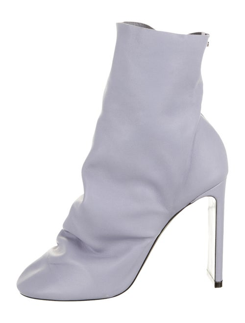 Nicholas Kirkwood Leather Sock Boots w/ Tags Purpl