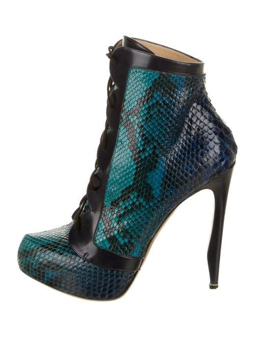 Nicholas Kirkwood Snakeskin Boots Blue