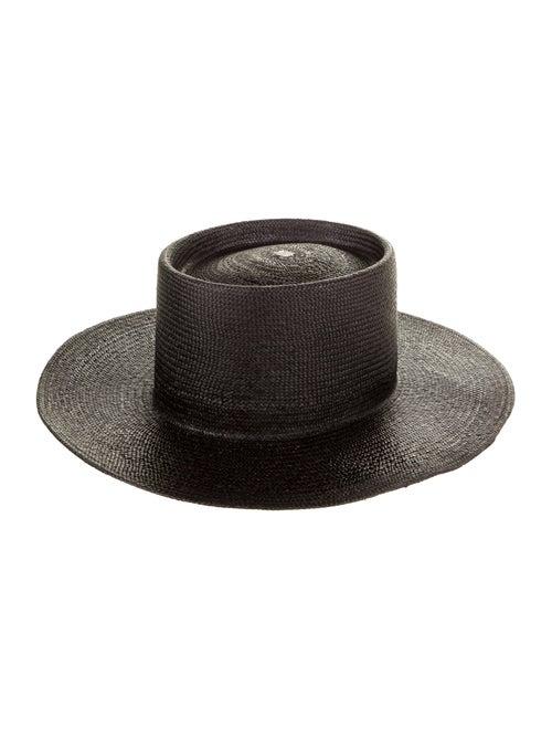 Nick Fouquet Straw Wide Brim Hat Black - image 1