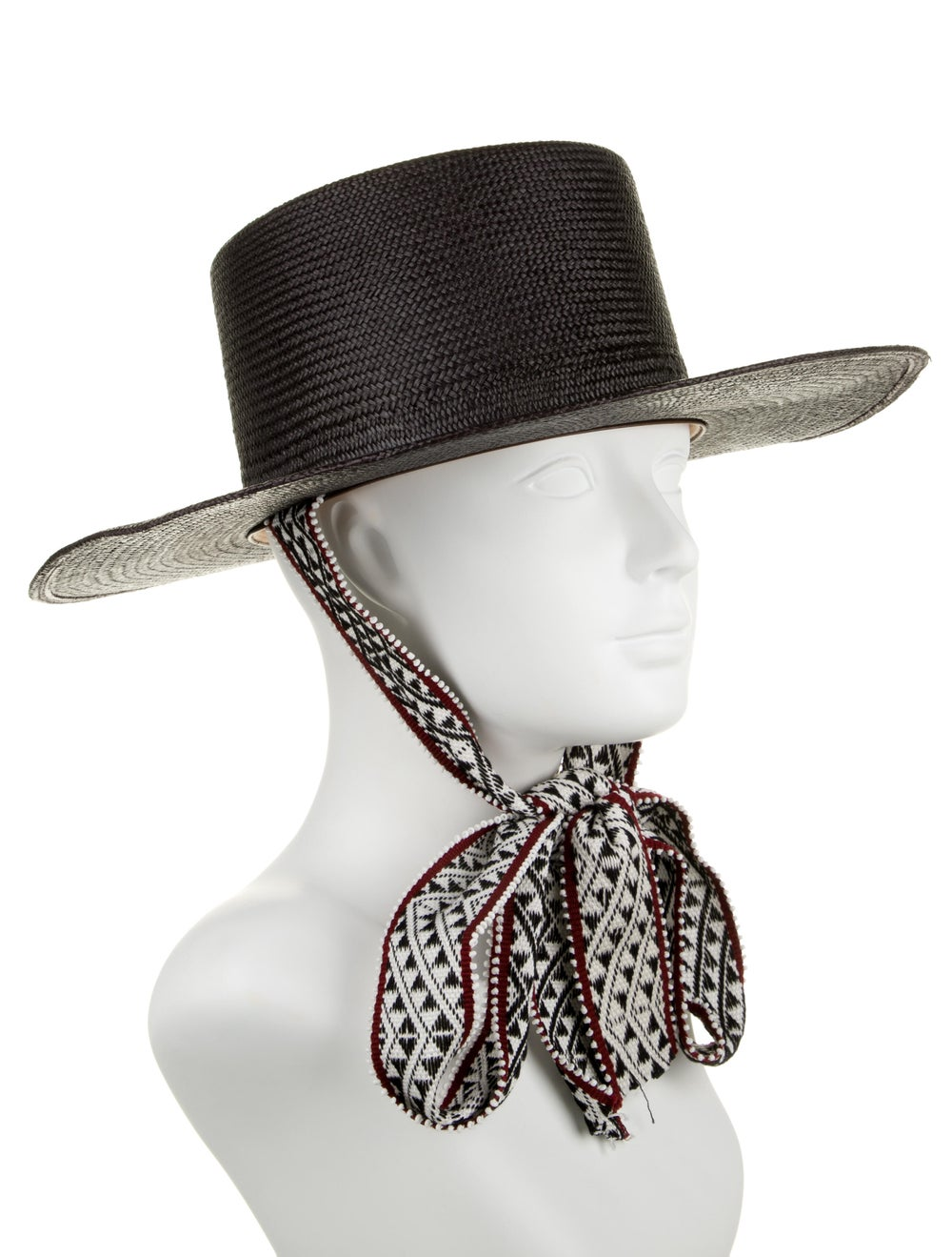 Nick Fouquet Straw Wide Brim Hat Black - image 3