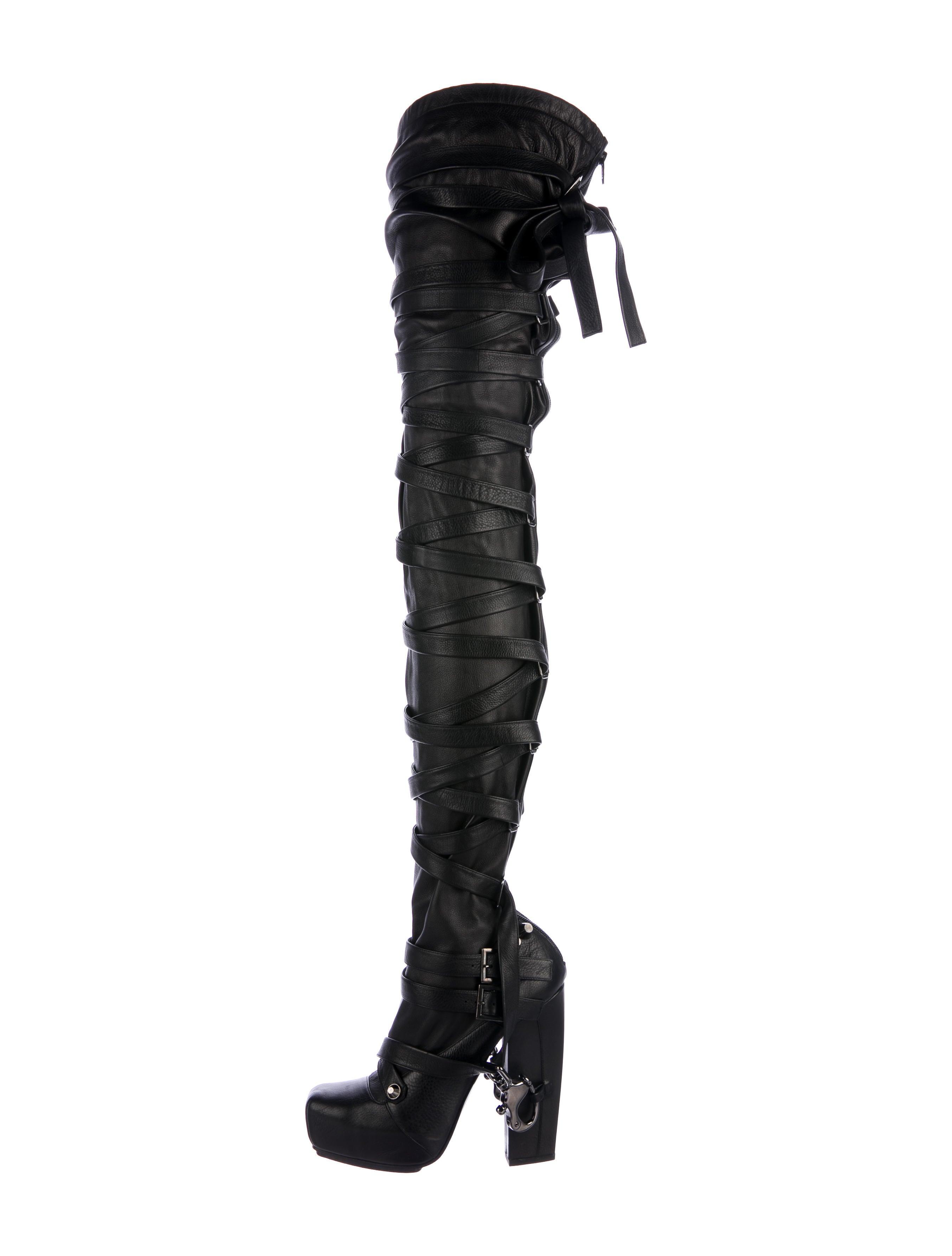 09608cbed87a Nicholas Kirkwood x Rodarte Bondage Thigh-High Boots - Shoes ...