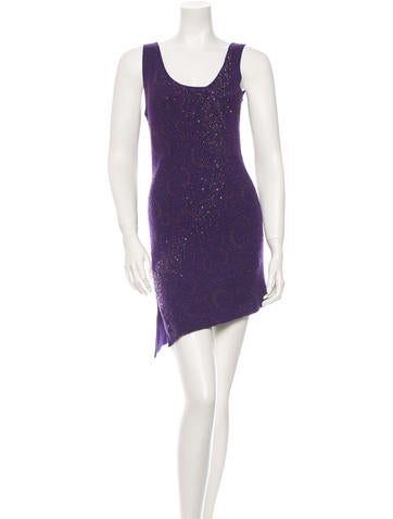 Embellished Knit Dress