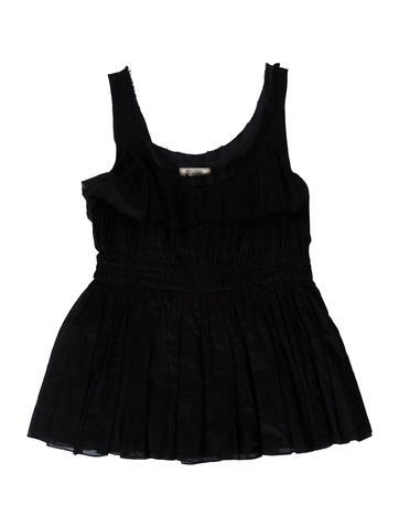 Nina Ricci Pleated Sleeveless Top None