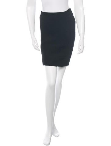 Nina Ricci Ribbed Pencil Skirt None