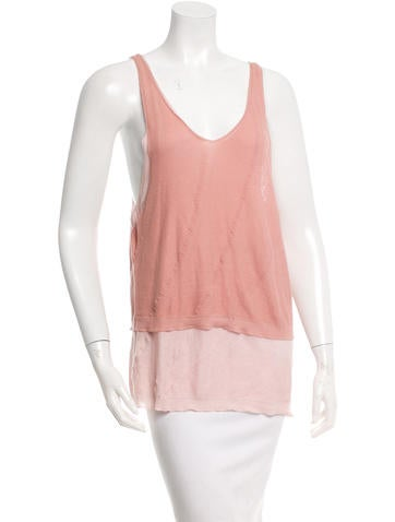 Nina Ricci Sleeveless Scoop Neck Top None