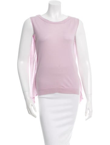 Nina Ricci Draped Wool Top None