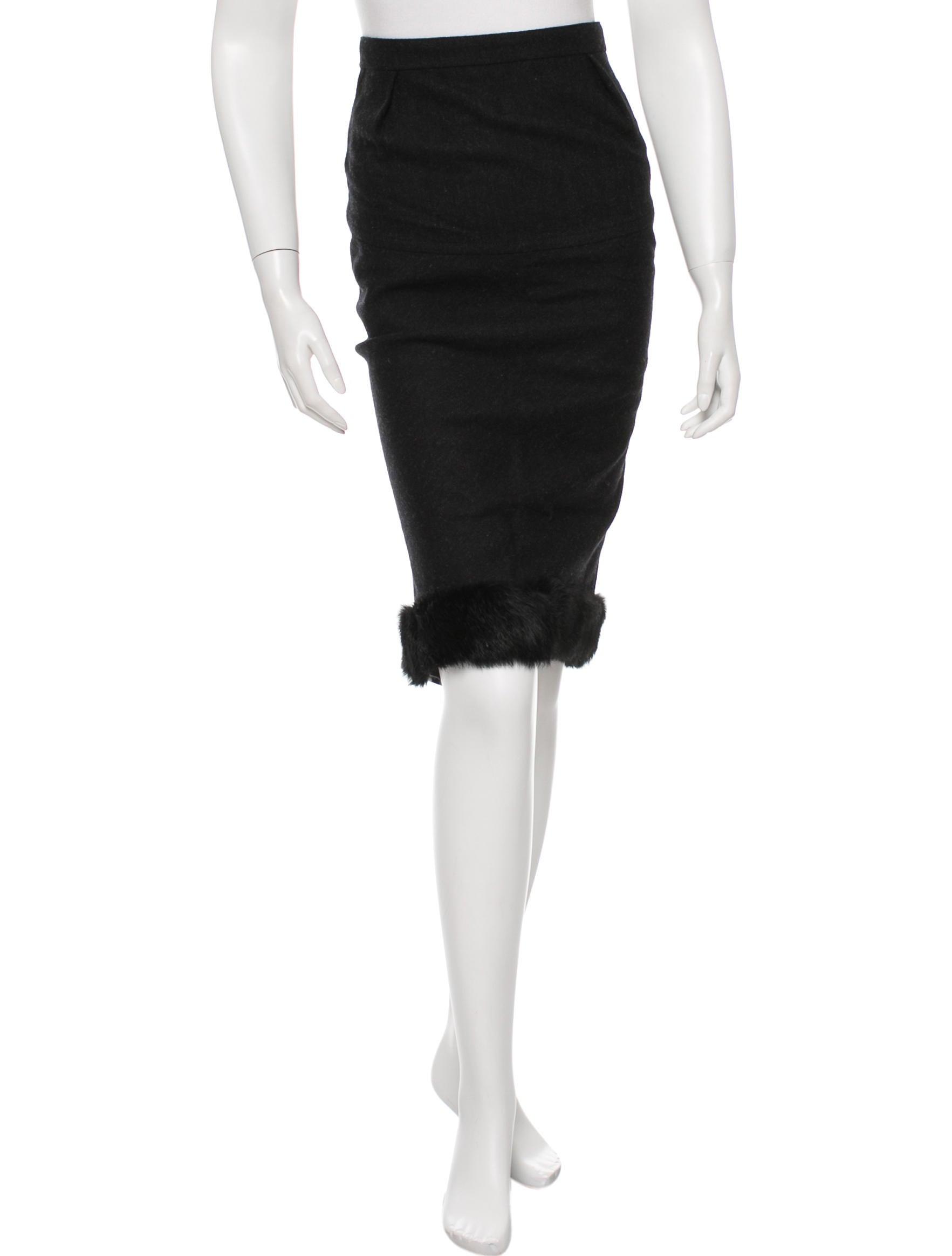 ricci wool midi pencil skirt clothing nin23775