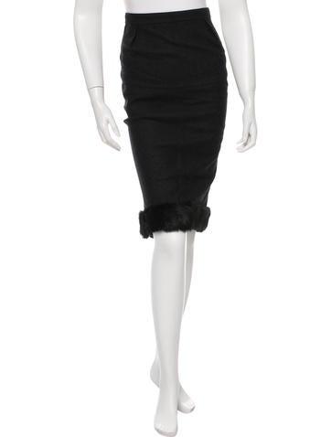 Nina Ricci Wool Midi Pencil Skirt None