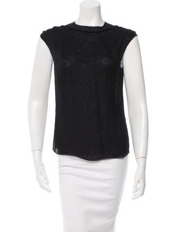 Nina Ricci Sleeveless Silk Top None