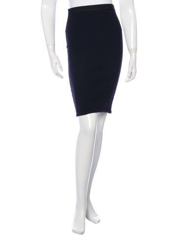 Nina Ricci Textured Pencil Skirt None