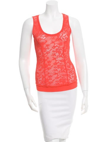 Nina Ricci Sleeveless Open Knit Top None
